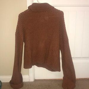 Goodnight macaroon burnt orange turtleneck sweater